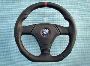 98-02 BMW 3 series E46 M SPORT NEW NAPPA ERGONOMIC INLAYS /FLAT bottom /RED mark
