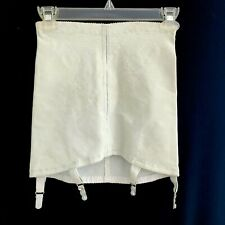 Vtg.1950s High Waist Open Bottom Pale Blue Frost Girdle w 4 Garters S / M
