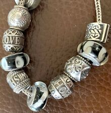 Rhona Sutton Sterling Silver Charm Bracelet With Charms Sister Daughter Love 925