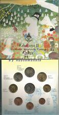 "FINLANDIA MOOMINS 2004 BU 8 monete con 2 euro ""Allargamento UE"" + med. 90 euro"