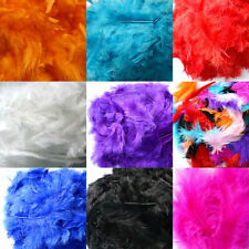200X Fluffy Marabou Feathers Card mixed Making Crafts Embellishments Trimming