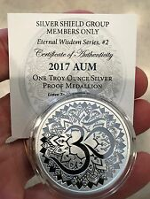 2017 Aum Proof - #2 Eternal Wisdom Series Silver Shield .999 Pure - 525 Minted