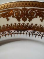 4-Gold Crown fine Italian Style china dinnerware