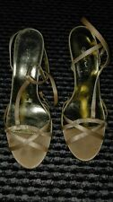gold sequin wedges size 4