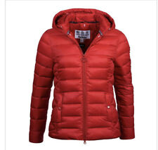 BNWT Ladies Barbour Landmass Quilted Jacket - Brick Red - Size 14