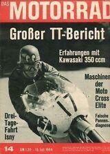 M6814 + KAWASAKI Avenger, 350 ccm + Tourist Trophy 1968 + Das MOTORRAD 14/1968