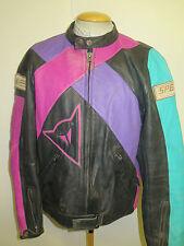 "Vintage Moto Dainese Cuero Chaqueta Cafe Racer Biker Jacket XL 46"" euro 56"
