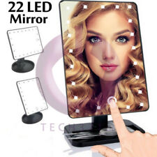 22 LED Light Illuminated Make Up Cosmetic Mirror with Tilt and Rotation Function