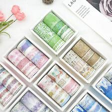 Premium 10Pcs/Set Washi Tape Rolls Decorative Sticky Paper Adhesive Tape