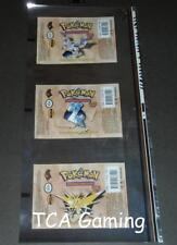 RIGHT Fossil Set UNCUT Booster Pack WRAPPER Free JUMBO Top Loader! Pokemon