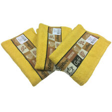 New Riggs Set Of 3 Cafe Cafe Kitchen Tea Towel, 50cm x 65cm, 100% Cotton Mustard