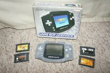 Boxed Nintendo Clear Game boy advance Tested Working Very Good Condition 4 games