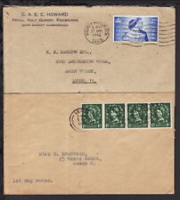 UK GREAT BRITAIN 1948 / 1952 COVERS Silver Wedding @ 4 x 1.5d STAMPS (L148)
