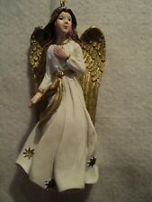 """Roman, Inc. """"WHITE AND GOLD ANGEL ORNAMENT ~ Style B"""" ~ NEW"""