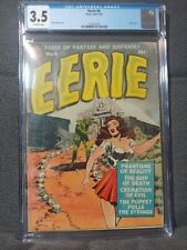 Eerie 4 (12/51). Zombie cover by Wally Wood. Sid Check art. CGC 3.5