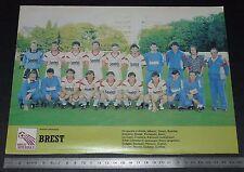 CLIPPING POSTER FOOTBALL 1986-1987 BREST ARMORIQUE FRANCIS-LE BLE BREIZH 29