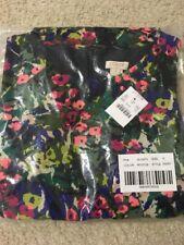 NWT J Crew Fit-n-Flare Flutter Dress Size 0 Woodland Green $90 Blue Pink Floral