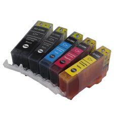 5PCS Ink Cartridge PGI-525 For Canon Pixma MG5250 Black/Cyan/Magenta/Yellow GO