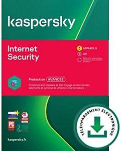 Kaspersky internet security 2021 for 1 device 1 year Global ( RENEWAL KEY )