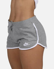 Nike WOMEN SPORTSWEAR CLASSIC HERITAGE FLEECE RUNNING SHORTS GRAY AR2414-063