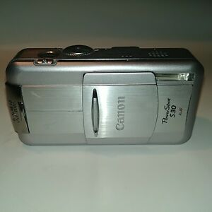 Canon PowerShot S30 Silver 3.2MP Digital Camera Made in Japan Not Tested & As Is