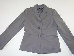 Kasper Women's 2 Button Blazer Jacket Size 8 Gray 100% Polyester Suit Coat Lined