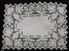 Set of 6 Antique Cutwork RICHELIEU Place Mats Doilies Grapes Picots White Linen