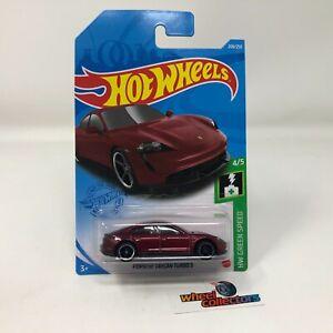 Porsche Taycan Turbo S #208 * RED * 2021 Hot Wheels Case M * G9