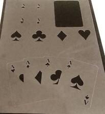 Tamaño de Tarjetas de Poker Original Juego jugar Ace Diamante club Heart Spade plantilla