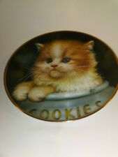 """Hamilton Collection Cameo Kittens Plate """"Ginger Snap"""" by Qua Lemonds 1993"""