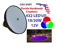 18W 20W 12V LED RGB Color Changing Pool Spa Underwater Replacement Light Bulb