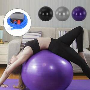 85 CM GYM YOGA BALL EXERCISE SWISS FITNESS PREGNANCY BIRTHING ANTI BURST + PUMP