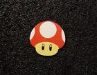 Mushroom Mario Toad Label / Logo / Sticker / Badge 30 x 30 mm 290d