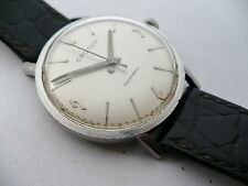 NICE SIZED~VTG CROTON AQUAMATIC AUTOMATIC MENS DRESS WRISTWATCH~1950s