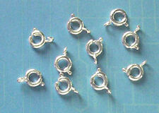 20 silver plated 6mm bolt rings, findings for jewellery making crafts