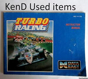 NINTENDO NES Turbo racing handleiding instruction booklet PAL ENG NED FRA manual