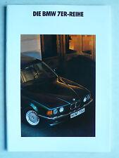 Prospekt BMW 7er E 32 - 730i, 735i, 735iL, 2.1991, 38 Seiten