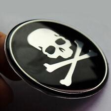 Tapacubos centro de rueda de coche 4x insignia de la Etiqueta Engomada Decoración de logotipo de cráneo Cruz cubierta ósea RW