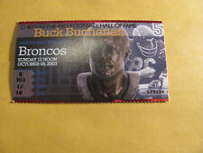 Kansas City Chiefs Denver Broncos 10/6/03 Ticket Stub    Buck Buchanan