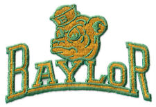 """1990 BAYLOR BEARS NCAA COLLEGE VINTAGE 5"""" TEXT TEAM LOGO PATCH"""