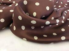 NEW Designer Multi Colour Polka Dot Lining Print Fabric 50'' 127cm Spots Cloth B