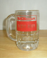 Vintage Advertising Richardson Root Beer Mug Clear Glass