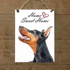 DOBERMANN Home Sweet home mod2 Targa cane piastrella ceramic tile dog
