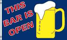 """""""THIS BAR IS OPEN"""" flag 3x5 ft beer mug abierto"""