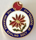 The Insurance Bowling Society Of Queensland Club Badge Pin Rare Vintage (M12)