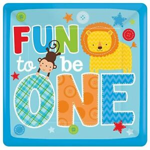 """Fun to be one  Birthday Party 10"""" Paper Dinner Plates cake USA Seller 8 count"""
