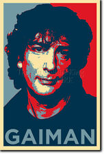 NEIL GAIMAN ART PHOTO PRINT (OBAMA HOPE PARODY) POSTER GIFT