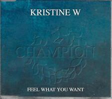 KRISTINE W - Feel what you want CDM 9TR Euro House 1994 (JIVE) Holland