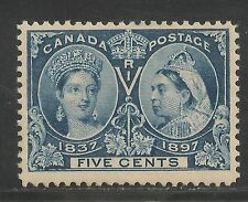 Canada #54 SUPERB MNH - 1897 5c Queen Victoria Jubilee - Rich Colour