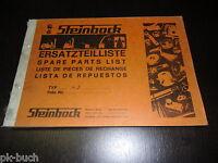 Catálogo de Piezas Repuesto Steinbock Carretilla Elevadora 4d Stand 01/1971